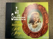 JO STAFFORD SINGS AMERICAN FOLK SONGS 78 RPM RECORDS LOT OF 3 IN A BOOK VG