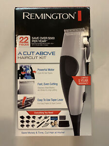 Remington 22 pc A Cut Above Haircut Cutting Clippers Kit *Free Shipping*