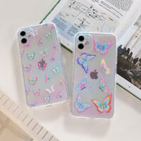 Cartoons Cute Butterfly Glitter Color Phone Case For iPhone 11 12 Pro Max Mini