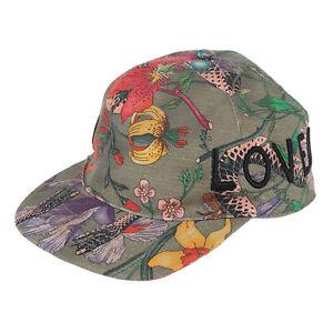 GUCCI MENS UNISEX BASEBALL CAP FLORA COTTON LOGO LOVED HAT 478948 sz M 58cm