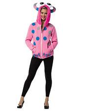 Pink Monster Creature Teen Halloween Costume Hoodie Sweater-13-16