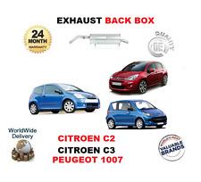 FOR CITROEN C2 1.4 C3 1.4 PEUGEOT 1007 1.4 NEW BACK END EXHAUST SILENCER