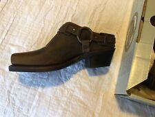 FRYE Harness Clog Mule 70760 Brown Leather Nubuck Women 8.5 New USA Made