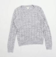 H&M Womens Size S Grey Jumper (Regular)