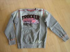 ENERGIE TRUCKER Sweat Shirt Pulli Sweatshirt Grau Laster Hoodie LKW 164 - NEU