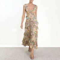 Womens Summer Long Dresses Printed Floral Fashion Holiday Occident Ruffled 2019