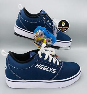 New Mens Sz 8 Heelys Pro 20 Casual Low Top Sneaker Skate Rollerskate Shoes Navy