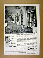 1962 Plaza Hotel Restoration New York photo Bigelow Carpets vintage print Ad