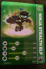 Ninja Stealth Elf Skylanders Swap Force Card & Code Sticker Only!