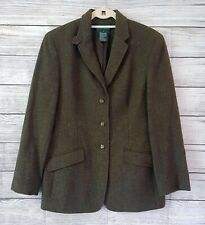 New listing Ralph Lauren Women Jacket Blazer 12 Herringbone Equestrian Wool Green Hunting