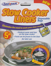 SEALAPACK SLOW COOKER LINERS 5 PK DISPOSABLE BAGS EASY & CLEAN COOKING