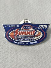 Lapel Pin 4th Annual NHRA Summit Racing Equip Nationals 2010 Pinback Norwalk OH