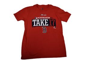 Majestic Youth Boys MLB Boston Red Sox Take '17 Post Season Shirt New S(8)