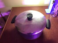 Revere Ware Copper Bottom Stainless Steel 6 Qt. Stock Pot with Lid Clinton USA