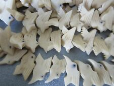 African Trade Bones Handcrafted Dove Shape Beads 40pcs