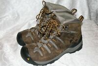 KEEN Gypsum Brown Leather Mid Waterproof Mens Hiking Boots Size 9.5 42.5