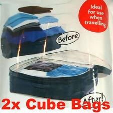 2 x Large Cube Space Saving Storage Bags Spacebags (355/2902)
