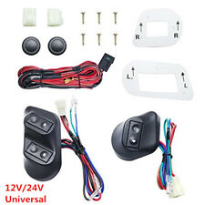 12V/24V Button Power Window Switches With Holder&Wire Harness For 2-Door Car SUV