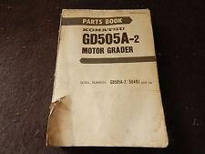 komatsu motor grader GD505A-2 parts book manual serial # 50491 and up