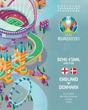 More details for england v denmark official euro 2020 semi wembley programme plus free press kit