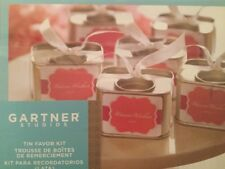 New Unopened, Gartner Studios Tin Favor Kit Wedding Favors (18 tins)