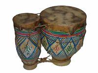 Moroccan Drum Tom-Tom Tabla Darbuka Doumbek Tombak Bongo Set Handmade Ceramic SM