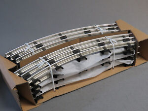 "WILLIAMS BACHMANN O GAUGE 8 PCS 31"" CIRCLE TRACK PACK tubular steel 00213 8x NEW"