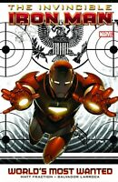 Invincible Iron Man Volume 2 World's Most Want GN Matt Fraction OOP TPB New NM