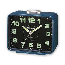 New in box Casio TQ-218-2D Blue Table Top Travel Alarm Clock