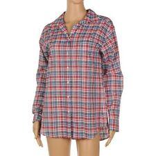 Check Button Cuff Sleeve Regular Tops & Shirts for Women