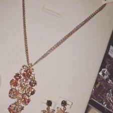 Fashion Jewelry Necklace Choker Chunky Statement Set Collars Peach Stone