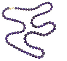 """Gold Filled Clasp - 6mm Amethyst Necklace 16"""" Beads w/ 14kt"""