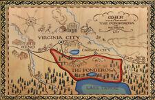 BONANZA T.V. SHOW REPLICA *PONDEROSA MAP* POSTER