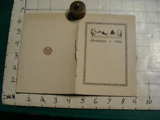 vintage Christmas 1914 card: very nice, from JOHN HAYES HOLMES-author