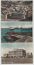 Steamer Point, Harbour, Crescent Hotel: Aden, Yemen :~3 x 1960 RP PPCs, Tinted.