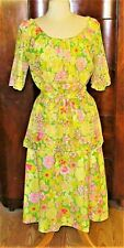"VTG 60'S LILLY PULITZER ""THE LILLY"" FLORAL SKIRT/TOP SET W/EMBROIDERY/SASH"