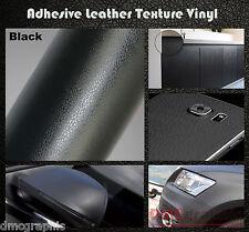 100x152cm nero in pelle Texture Adesiva Auto Mobili In Vinile Avvolgere Adesivo del film
