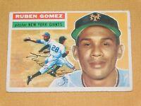 VINTAGE OLD 1950S BASEBALL 1956 TOPPS CARD RUBEN GOMEZ NEW YORK GIANTS