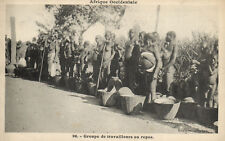 PC CPA ETHNIC NUDE FEMALE AND MALE TYPE, WESTERN AFRICA Postcard (b5332)