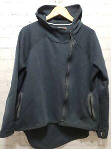 Nike Women's Tech Fleece Hoodie Tail Cape Full Zip Black Large 669613 010    A80