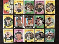 ⚾️⚾️1959 Topps Baseball Pittsburgh Pirates Lot Of 15 Baker Kluszewski Hall⚾️⚾️