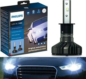 Philips Ultinon Pro9000 LED 5800K H3 Two Bulbs Fog Light Replacement Upgrade OE