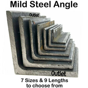 Mild Steel ANGLE Iron 20 mm - 75 mm Bandsaw Cut From UK Metal Distributor
