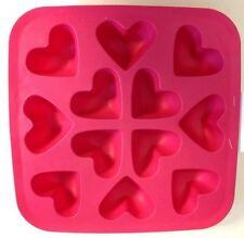 NEW Ikea Silicone Rubber Heart Shape Ice Cube Chocolate Baking Tray Mold Pink