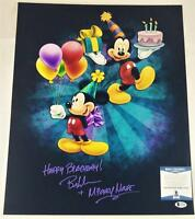 "BRET IWAN ""MICKEY MOUSE"" SIGNED METALLIC 16X20 PHOTO DISNEY BECKETT BAS COA 048"