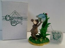 Charming Tails Spring Blue Flower Figurine Mouse #89310A Dean Griff Silvestri