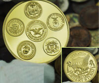 US Military Army Air Force Navy Operation Desert Storm Challenge Coin GOLD