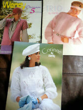 Job Lot Vintage 3 Knitting Pattern Books by Wendy Corinne Chanson 5 Texture Tone