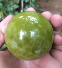 58 mm Lemon Jade/ New Jade (Shah Maqsood) Sphere 280 grams Crystal Gemstone