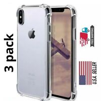 3 Pack Transparent Cover for Apple iPhone X/XS - Clear Case